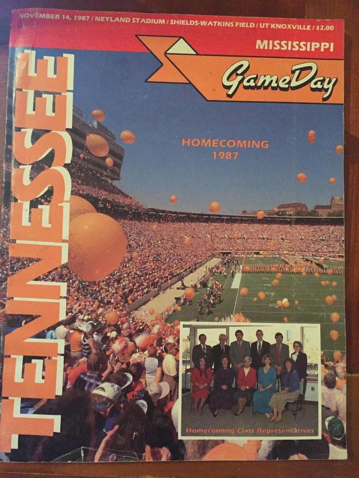 Primary image for 1987 Tennessee VOLS vs Mississippi  Sports Guide Game Day Homecoming 1987