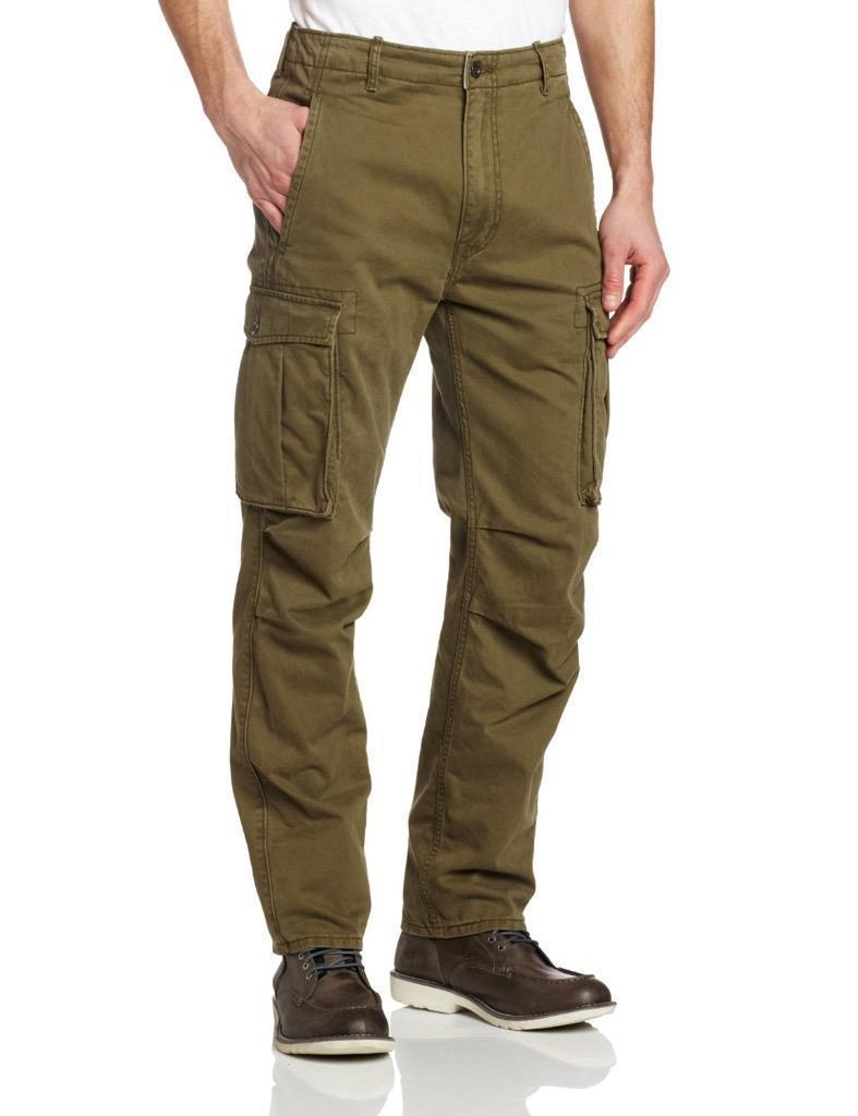 New Levi's Strauss Men's Ace Cargo Twill Pants Relaxed Fit Ivy Green 124620004