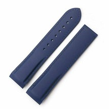 Blue Strap Bracelet FOR Omega Seamaster Speedmaster Rubber band 22mm Goma - $35.00