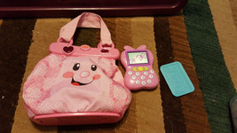 Fisher Price Laugh And Learn Pink Talking Purse ABC With Accessories - $18.50