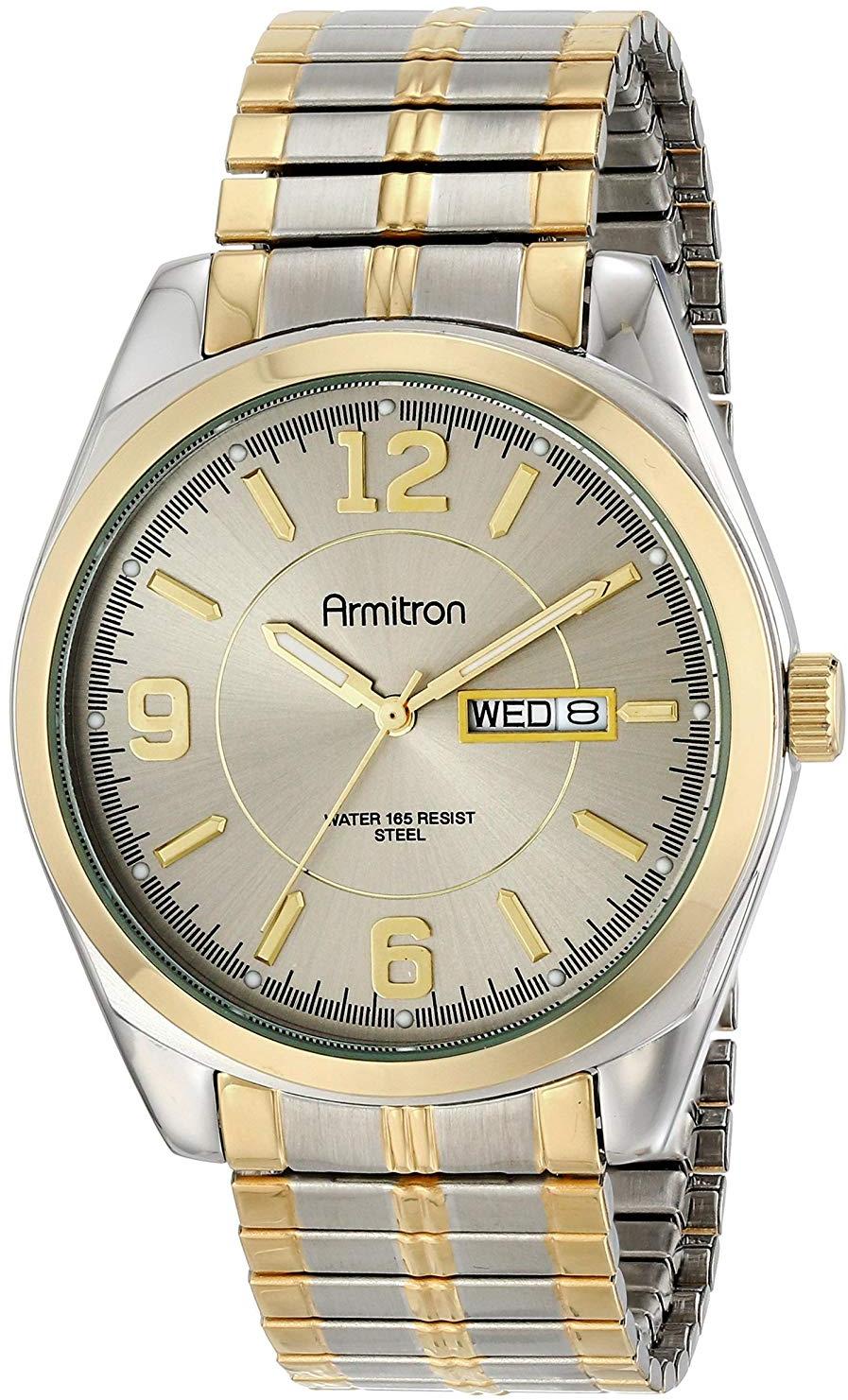 dd51ffcce098 Armitron Men's 204591GYTT Two-Tone Expansion Band Dress Watch - $108.84