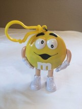 "M&M's Yellow Clip On Dispenser Candy Mars 4.25"" Plastic Toy Figure Cake ... - $9.85"