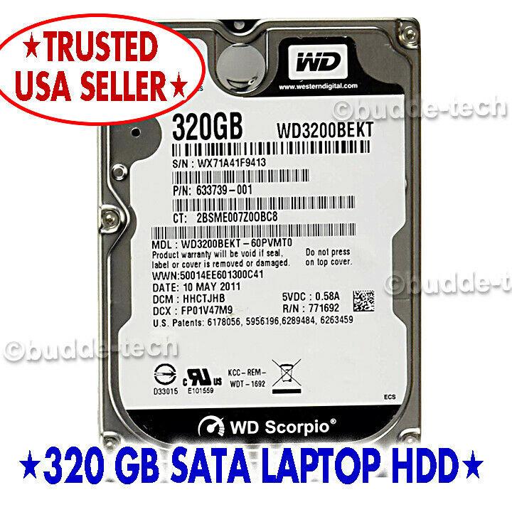 Apple Macbook Pro 2.5 Inch 320GB 7200 RPM SATA Hard Drive With OS X 10.7 Lion