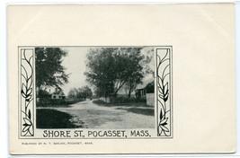 Shore Street Pocasset Massachusetts 1907c postcard - $6.44