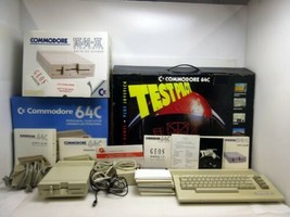 Commodore 64c Test Pilot Bundle Computer System 1541-II Disk Drive Games Box image 1
