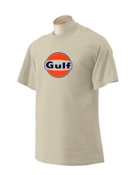 Gulf 'B' Gasoline T-shirt  Decal Signs Motor Oil Gas Globes