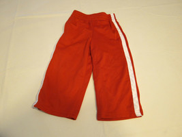 The Children's Place active pants 12 M baby boys NWT red white Athletics Dept - $10.67
