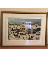 """Will Moses Framed """"Main and Elm"""" Signed Lithograph #3/500 with COA  25""""x... - $233.75"""