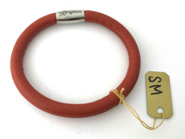 Brighton Woodstock Rust Leather Bracelet, Size S, New - $37.99