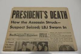 PRESIDENT'S DEATH San Francisco examiner Newspaper November 23, 1963 - $29.99
