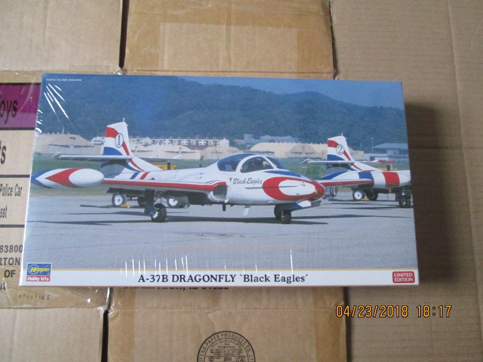 "Hasegawa A-37 Dragon Fly ""Black Eagles"" Includes Two Kits 1/72 scale"