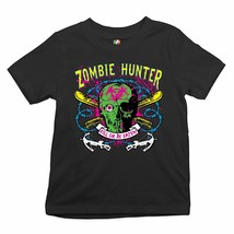 Zombie Hunter Glow in the Dark Youth T-shirt Halloween Undead Apocalypse... - $12.13+