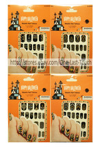 HALLOWEEN 20pc Nail Stickers METALLIC TATTOOS Silver+Gold+Black *YOU CHO... - $2.48