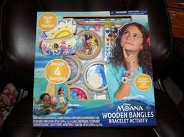 Moana Wooden Bangles Bracelet Activity Kit NEW - $27.59
