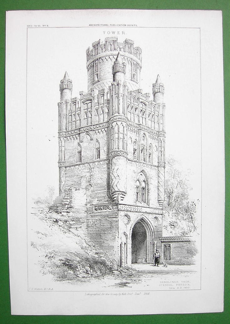 ARCHITECTURE PRINT : Germany Uengliner Tower in Stendal