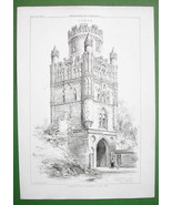 ARCHITECTURE PRINT : Germany Uengliner Tower in Stendal - $22.95