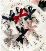 """Korean Hair Clip - with Bow and Rhinestones - """"I Love You"""" - €6,21 EUR"""