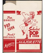 Vintage box MAJORETTE POPCORN woman pictured unused new old stock excell... - $9.99