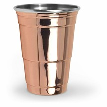 Fred's Mighty Moscow Mule Copper Stainless Steel 16 oz. Party Cup Brand NEW image 2