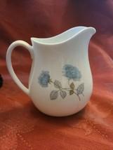 Pitcher Creamer Ice Rose WEDGWOOD Bone China Made in England Blue Flowers