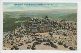 Vintage 1930s Summit House Mt Evans Idaho Springs Colorado CO Postcard - $18.81
