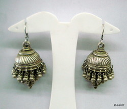 vintage antique tribal old silver dangle earrings jumka traditional jewelry - $272.25