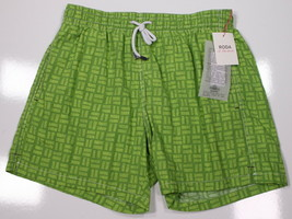 NWT New RODA  At the Beach Lime Green Slim Fit Bathing Suit Trunks~ M - $52.50