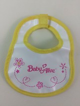 Baby Alive Bib Yellow For Soft Face Vintage 2006-2007 Doll Replacement H... - $13.32