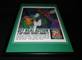 1964 7 Up Framed 12x18 ORIGINAL Vintage Advertising Display - $65.09
