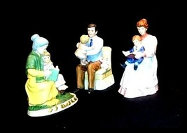 "3 Figurines Symbolizing ""Family Time""AB 830 Vintage Special"