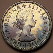 1970 UNITED KINGDOM 2 SHILLING NEON COLORING PROOF TONED BU UNC SUPERB (MR) - $197.99