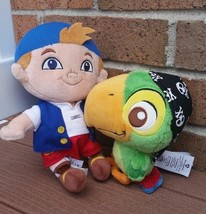 Disney Jake and the Neverland Pirates Lot Cubby Skully Green Parrot Plush Toy - $18.00