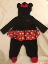 DISNEY BABY GIRLS HOODED 1 PIECE MINNIE MOUSE COSTUME SLEEPER 6 MONTHS N... - $24.70