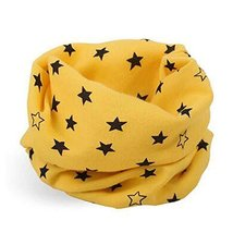 2PCS Lovely Stars Pattern Warm Cotton Neckerchiefs Baby Scarves Wonderful Gifts