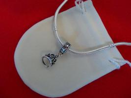 NEW Disney Princess Theme Dangle Charm - Snow White's Tiara Crown, silver plate  - $9.99