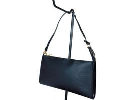 Authentic LOUIS VUITTON Pochette Accessoires Black Epi Leather Hand Bag ... - $349.00
