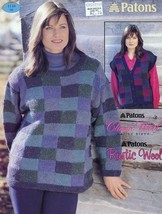 Patons Show Your Colours Tunic Vest Sweaters Knitting Pattern 1118 Sz S-M-L - $2.67