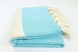 Herringbone Turkish Towel Fouta Peshtemal Beach Bath Spa Yoga Hammam Gym Pool To - $20.29