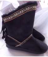 Jessica Simpson Boots Shoes BLACK Size S (5-6) Fringe Hippie Country Wes... - $27.44