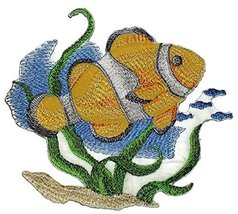 Ocean Calling Custom And Unique[ Clown Fish Water Color ] Embroidered Ir... - $11.87