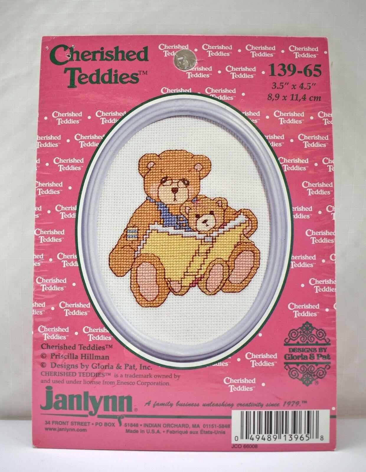 Janlynn Cherished Teddies Reading Bears Cross Stitch Kit #139-65 - NEW w/Frame