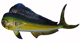 Clearance Scratch And Dent Sale Beautiful Unique Metal Mahi Dolphin Sport Fish W - $34.59