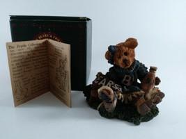 "Boyds Bear figurine-""Bailey the Cheerleader ""( 3.5""x3.5"") W/ Box&Certificate - $11.16"