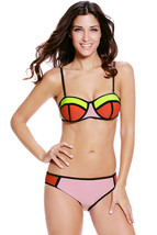 Cali Chic Junior's Swimsuit Celebrity Sexy Color Block HOT NEW Big Selle... - $12.99