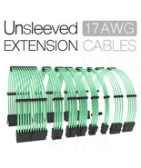 unsleeved clear green computer psu extension cable cords red color 30cm gpu cpu  - $2.70 - $999.00