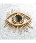 Rattan Miror Decoration, Art Mirror, Makeup Mirror , Wall Hanging Mirror - $79.50