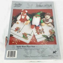 Something Special 50610 Teddy Bear Place Mats Christmas Cross Stitch Kit New - $28.50