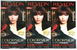 3 Revlon 48BV Burgundy Vivid Color Ammonia Free Colorsilk Buttercream Ha... - $29.69