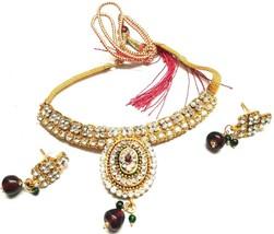 Indian 22k Gold  Gorgeous Women Jewellary Handmade Necklace Earring set ... - $9.90