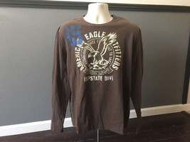 American Eagle Outfitters Long Sleeve Shirt Brown Size Large L - $19.75